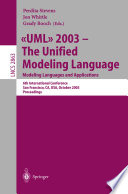 Uml 2003 The Unified Modeling Language Modeling Languages And Applications