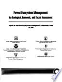 Forest Ecosystem Management Book