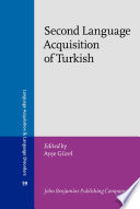 Second Language Acquisition of Turkish