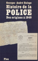 Histoire de la police et de la gendarmerie