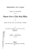 Reports of Cases Argued and Determined in the Supreme Court of New South Wales
