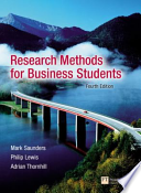 Research Methods for Business Students / Researching and Writing a Dissertation