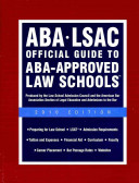 Aba Lsac Official Guide To Aba Approved Law Schools 2010