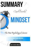 Summary Carol Dweck s Mindset Book