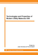 Technologies and Properties of Modern Utility Materials XXII