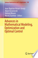 Advances in Mathematical Modeling  Optimization and Optimal Control