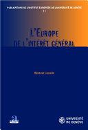 Pdf L'Europe de l'intérêt général Telecharger