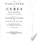 The Tablature of Cebes     Translated     by Samuel Boyse     The Third Edition