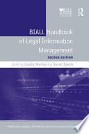 BIALL Handbook of Legal Information Management