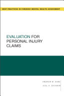 Evaluation for Personal Injury Claims Pdf/ePub eBook