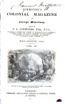 Simmond s Colonial Magazine and Foreign Miscellany