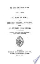 The Life of St. Rose of Lima, the Blessed Colomba of Rieti, and of St. Juliana Falconieri