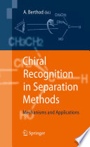 Chiral Recognition in Separation Methods Book