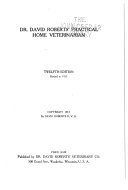 Dr  David Roberts  Practical Home Veterinarian Book