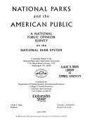 National Parks and the American Public Book