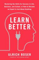 Learn Better ebook