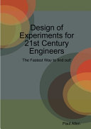 Design of Experiments for 21st Century Engineers Book