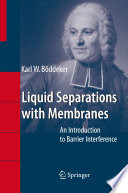 Liquid Separations With Membranes Book PDF