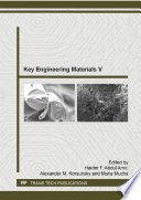 Key Engineering Materials V Book PDF