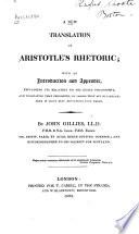 A New Translation of Aristotle s Rhetoric Book PDF