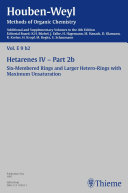 Houben Weyl Methods of Organic Chemistry Vol  E 9b 2  4th Edition Supplement