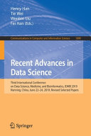 Recent Advances in Data Science