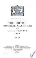 The British Imperial Calendar and Civil Service List