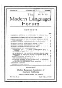 The Modern Languages Forum