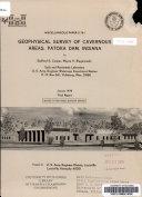 Geophysical Survey of Cavernous Areas  Patoka Dam  Indiana