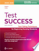 """Test Success: Test-Taking Techniques for Beginning Nursing Students"" by Patricia M Nugent, Barbara A Vitale"