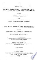 A General Biographical Dictionary