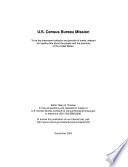 U.S. Census Bureau Contacts