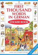 First Thousand Words in German Stickers
