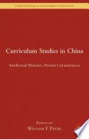Curriculum Studies in China