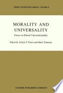 Morality And Universality Book