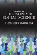 Philosophy of Social Science Book
