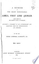 A Memoir of the Right Honourable James  First Lord Abinger Book PDF