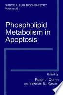 Phospholipid Metabolism In Apoptosis Book PDF
