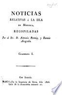 Noticias relativas á la isla de Menorca. Cuaderno 1-7
