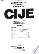 Current Index to Journals in Education  : CIJE.