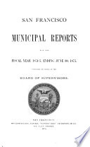 Municipal Reports for the Fiscal Year      Book