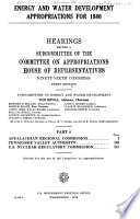 Energy and Water Development Appropriations for 1980