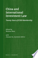 China And International Investment Law