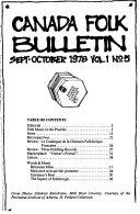 Canada Folk Bulletin
