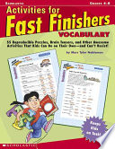 Activities for Fast Finishers