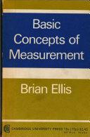 Basic Concepts of Measurement