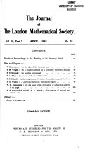 Journal Of The London Mathematical Society