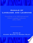 Annals Of Language And Learning Proceedings Of The 2009 International Online Language Conference Iolc 2009