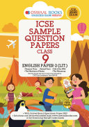 Oswaal ICSE Sample Question Papers Class 9 English Paper 2 Literature (For March 2020 Exam)