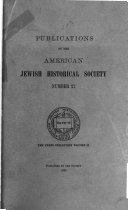 Publications of the American Jewish Historical Society